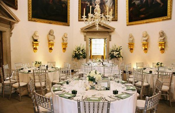 Wedding Planning corner tables green white