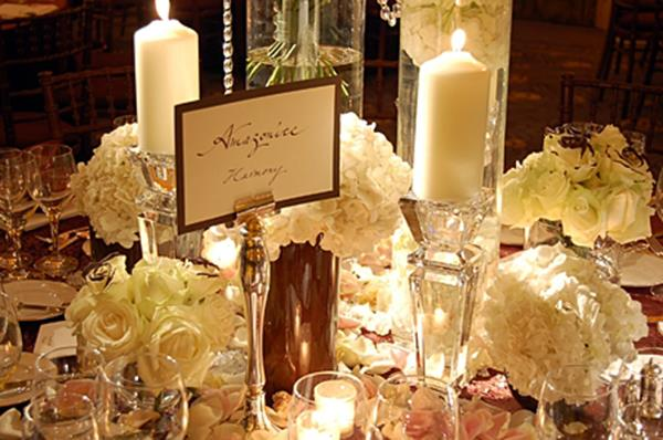 Wedding Planning candles and flowers