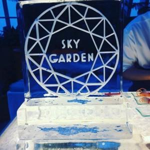 sky garden ice sculpture
