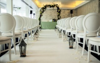 Boat House Wedding aisle wedding