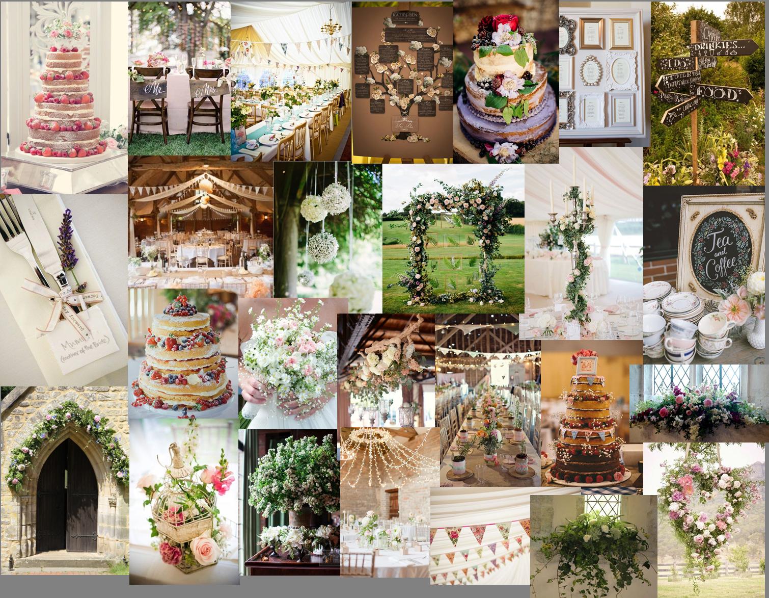 English Country Wedding moodboard blog