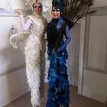 stilt walkers feathers