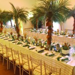 London Party Planner tables long tropical