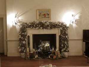 Christmas Party fireplace