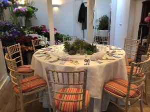 Lavender Green Table