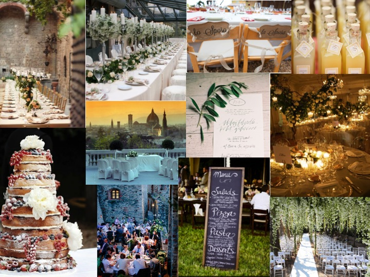 Italian Wedding Moodboard Image