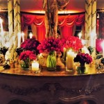 green and off white Orchid Events detail Table setting Pavilion Dorchester London