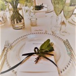 detail place setting Pavilion Dorchester London