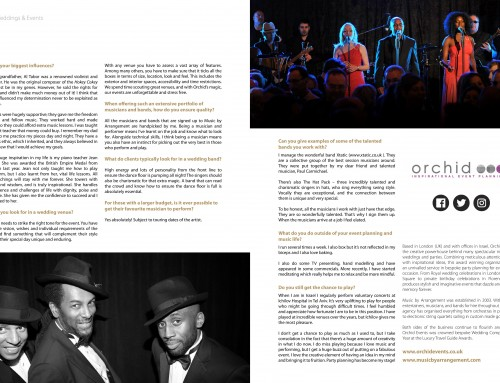 From Session Musician to Celebrated Wedding & Event Planner (Part 3)